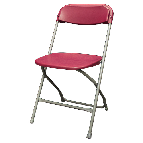 Chaise pliante bourgogne