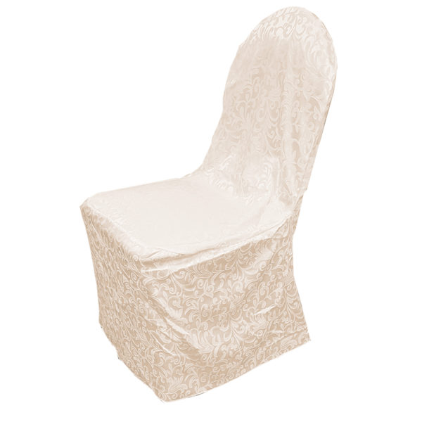 Housse de chaise ivoire