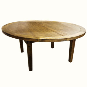 Table ronde rustique