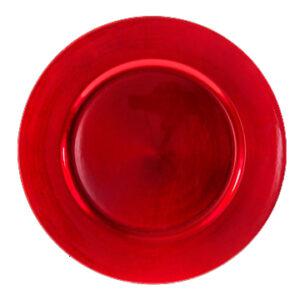 Sous assiette rouge