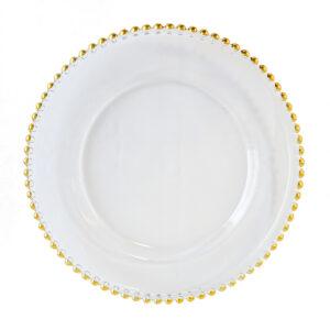 sous assiette or