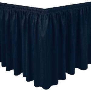 Jupe de table bleu marin
