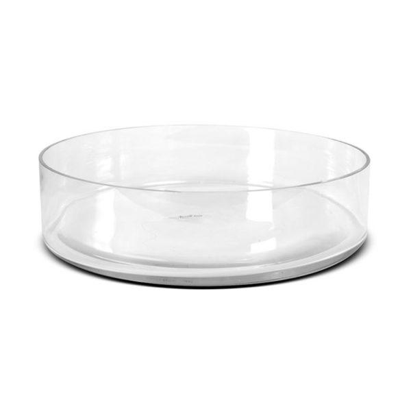 Vase en verre pat