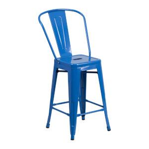Tabouret Tolix Bleu